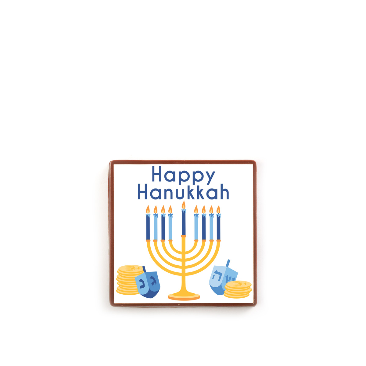 Dreidel & Menorah Square