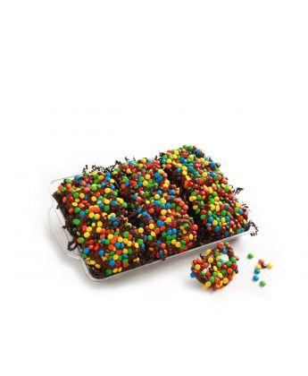 Chocolate Covered Pretzels with M&M's
