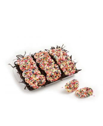Chocolate Covered Birthday Cake Pretzels