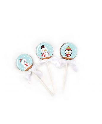 Snow Globe Lollipops
