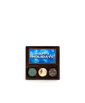 Happy Holidays Dark Blue 3 Piece Assortment