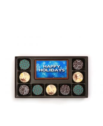 Happy Holidays Dark Blue 9 Piece Assortment