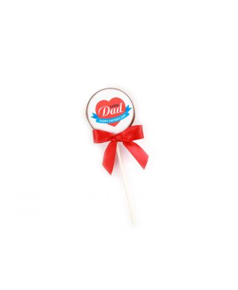 Happy Father's Day Heart Lollipops