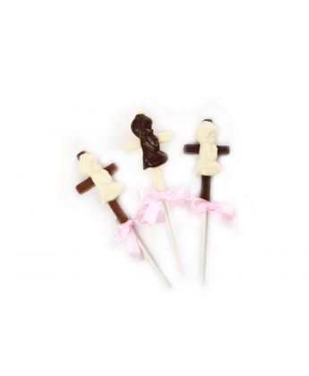 Praying Boy on Cross Lollipops